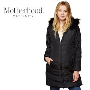 Motherhood Maternity | Expandable Quilted Puffer Coat